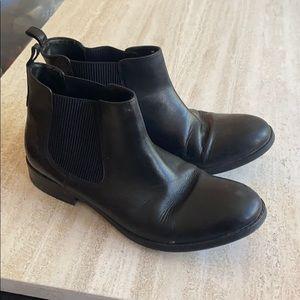 Black Clark's Booties